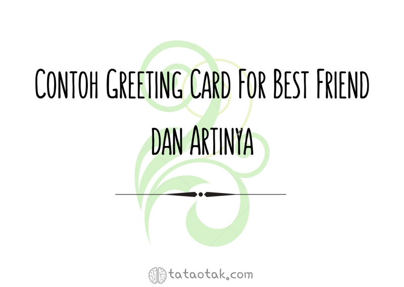 greeting card for friend